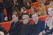 Quentin Tarantino, Harvey Keitel, Tim Roth et Uma Thurman