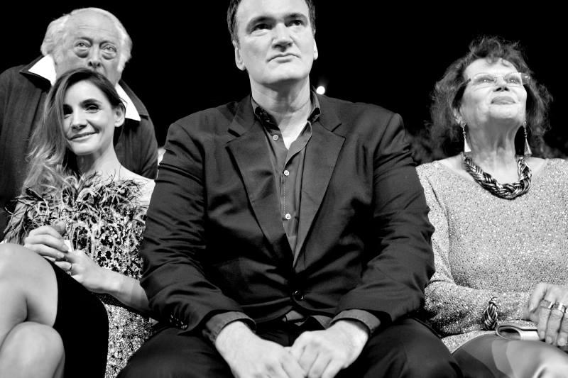 Clotilde Courau, Quentin Tarantino & Claudia Cardinale