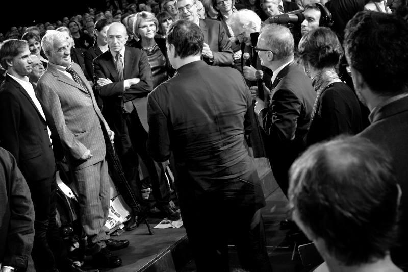 Jean-Paul Belmondo & Quentin Tarantino