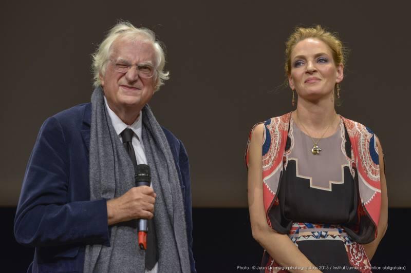 Bertrand Tavernier et Uma Thurman
